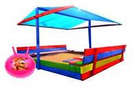 Детская деревянная песочница с крышей ( пісочниця )120*120