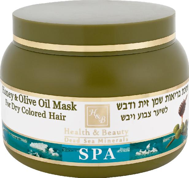 Маска для сухих окрашенных волос с оливковым маслом и медом Health & Beauty (250мл.)
