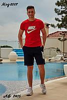 Мужской летний спортивный костюм с шортами №2007 (р.48-54) красный