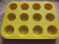Форма силиконовая для кексов 12шт