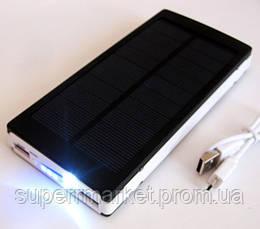 Power bank solar 25000 mAh black + зарядка от солнечной батареи, фото 2