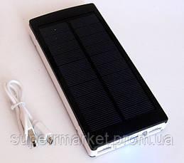 Power bank solar 25000 mAh black + зарядка от солнечной батареи, фото 3