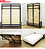 Вертикальная откидная кровать 140*200 см, фото 2