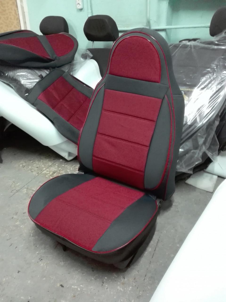 Чехлы на сиденья ВАЗ Лада 2107 (VAZ Lada 2107) (модельные, автоткань, пилот)