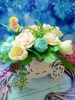 Карета с цветами