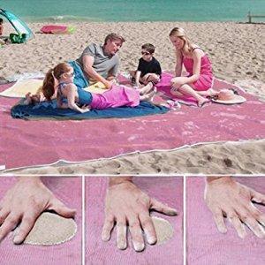 Пляжная подстилка анти-песок 200х140 см (Розовый)