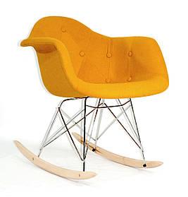 Кресло-качалка Leon Шерсть, желтое