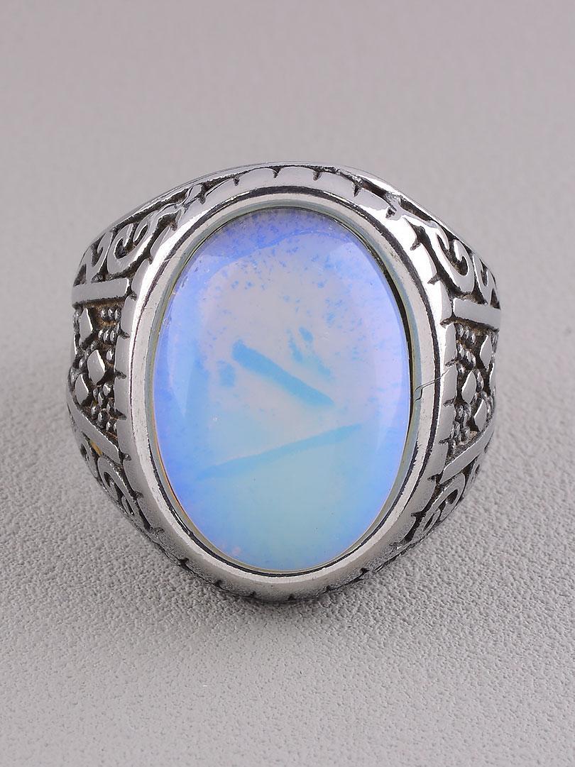 Кольцо 'Stainless Steel' Лунный камень