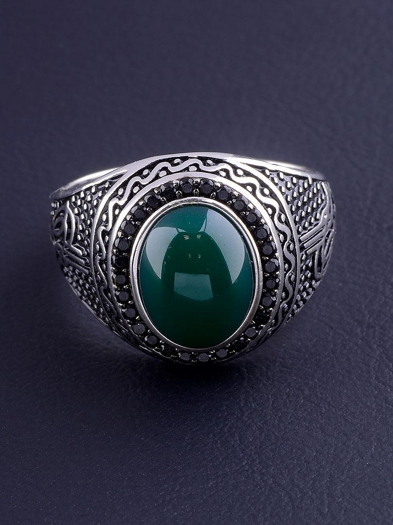 029507-190 Кольцо Хризопраз (Серебро)