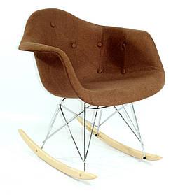 Кресло-качалка Leon Вискоза, коричневое