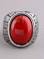 062656-180 Кольцо 'Stainless Steel' Коралл, фото 1