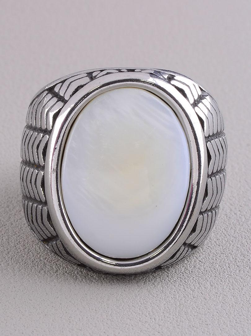062654-190 Кольцо 'Stainless Steel' Перламутр