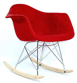 Кресло-качалка Leon Вискоза, красное