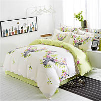 Комплект постільної білизни Квітковий олень (двоспальний-євро) Berni