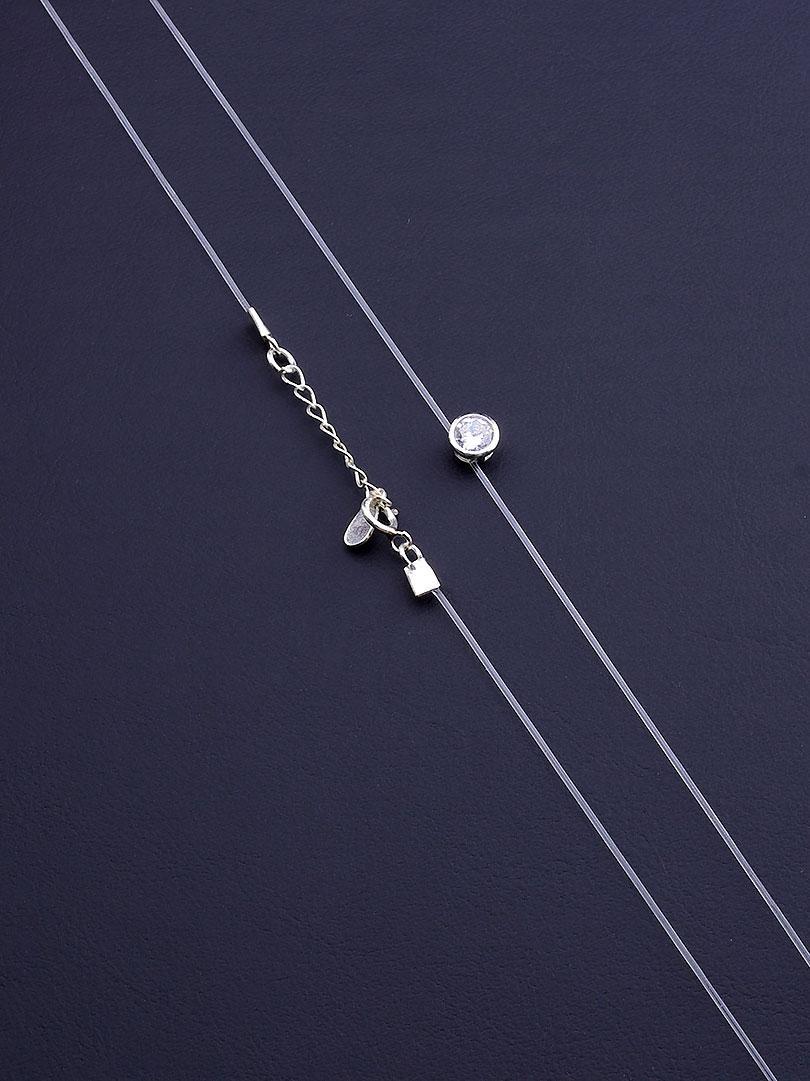 Подвеска женская на шею SUNSTONES Фианит 40 см Серебро 925