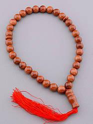 Четки Золотой Песок , цвет коричневый и оранжевый, 33 бусины 12 мм.
