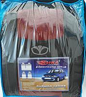 Авточехлы Daewoo Lanos 1997- (красный) Nika