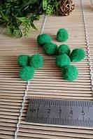 Помпоны декоративные для творчества, зеленые