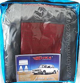 Авто чехлы Lada 2107 (красный) COPER Nika