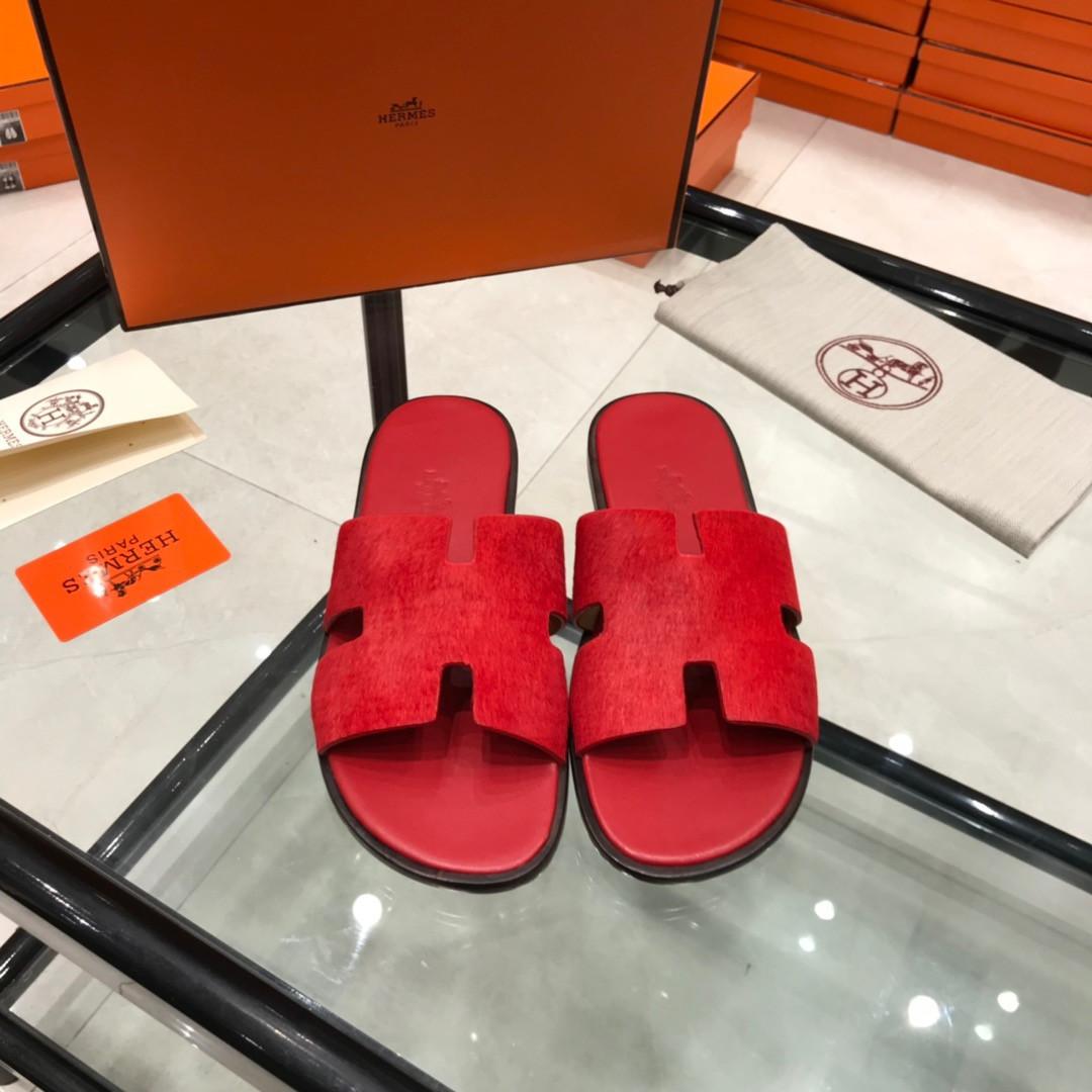 Шлепанцы кожаные Hermès