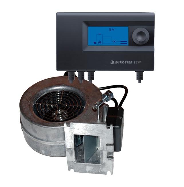 Контроллер Euroster 11W вентилятор WPA120 для твердотопливного котла