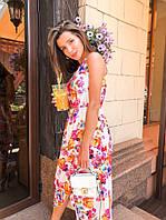 Длинное легкое летнее платье