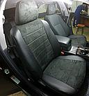 Чехлы на сиденья Тойота Авенсис (Toyota Avensis) (модельные, экокожа Аригон+Алькантара, отдельный подголовник), фото 2