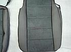 Чехлы на сиденья Тойота Авенсис (Toyota Avensis) (модельные, экокожа Аригон+Алькантара, отдельный подголовник), фото 5