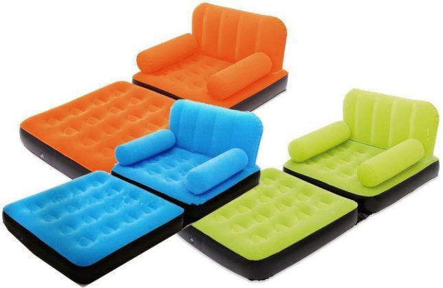 Надувной диван-трансформер флокированный BestWay