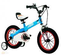 Детский велосипед 18 Royal Baby Honey Steel голубой