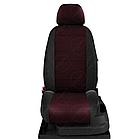 Чехлы на сиденья Субару Аутбек (Subaru Outback) (модельные, экокожа+автоткань, отдельный подголовник), фото 7