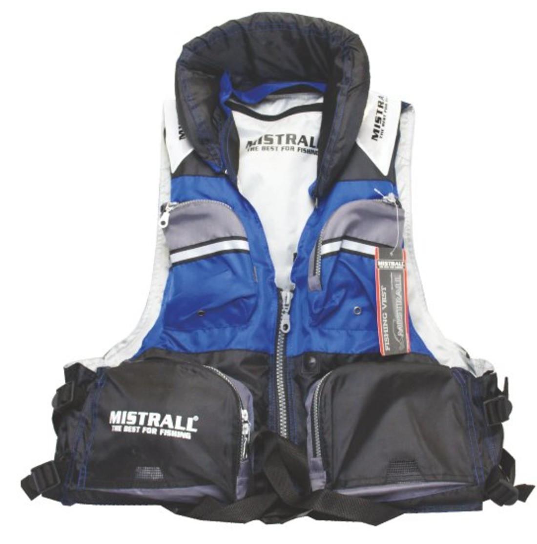 Жилет-разгрузка спасательный плавающий  Х2 BLUE р.L  MISTRALL