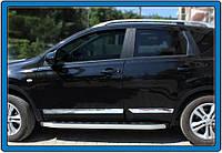 Nissan Qashqai 2010-2014 гг. Молдинг дверной (4 шт, нерж.) OmsaLine, Стандартная база