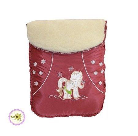 Лошадка- зимний детский конверт  LUX