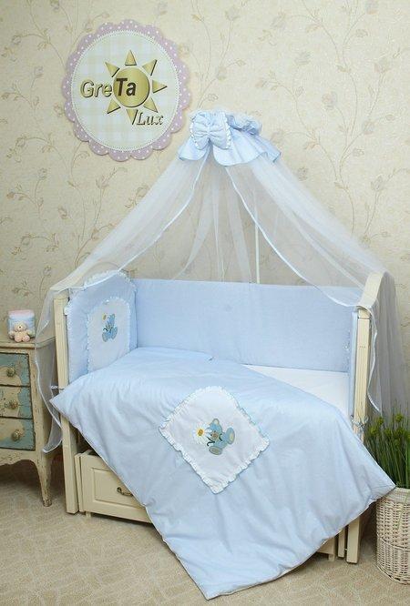 Комплект постельного белья в детскую кроватку Мишка Lux