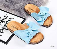 Шлепки женские цвет голубой 39,41 размеры, фото 1