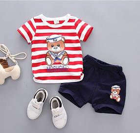 """Літній костюм на хлопчика футбока +шорти 1-5 років """"Мішутка"""""""