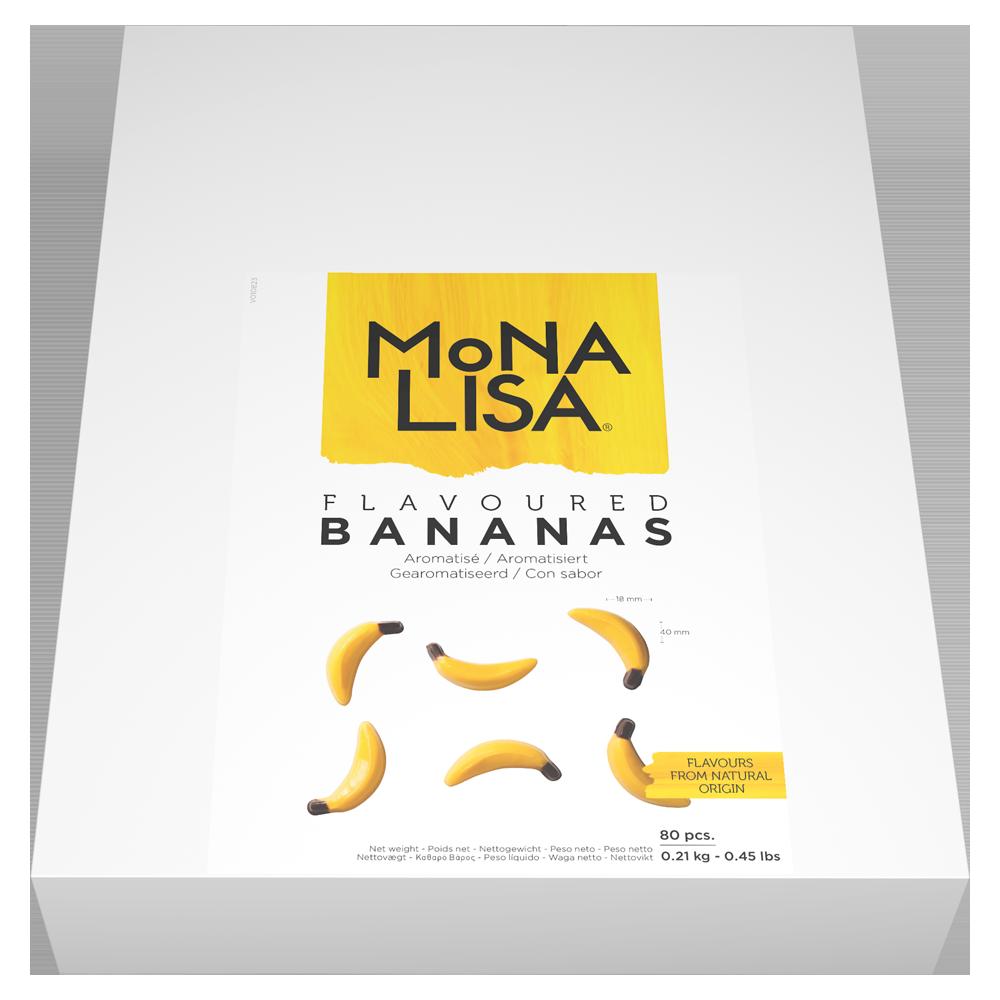 Декор банан шоколад Mona Lisa 80*4  0,2кг