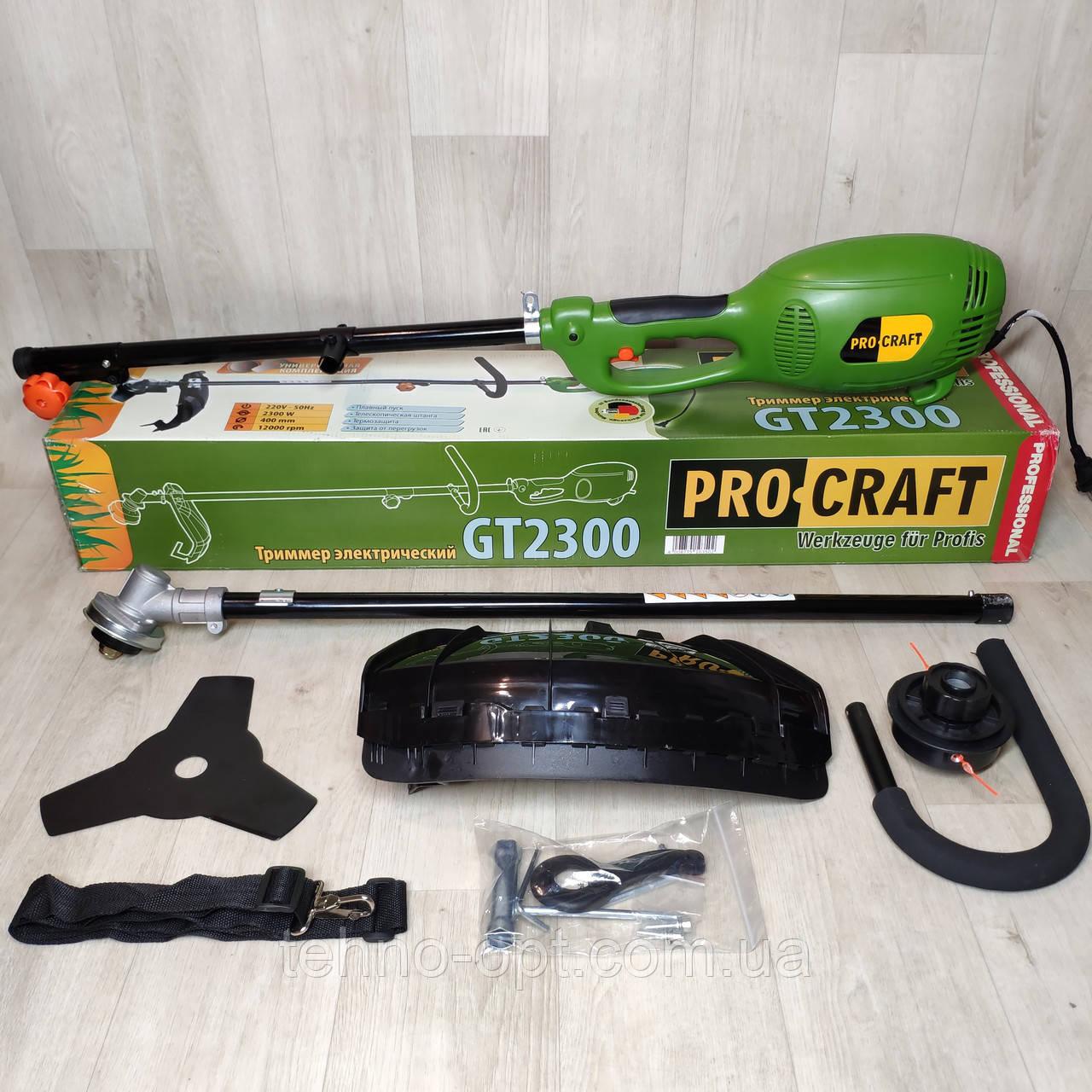 Электрокоса ProCraft GT-2000 (разборная штанга)