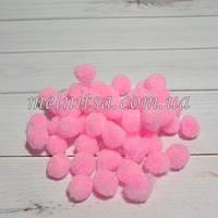 Помпончики, 1см, цвет розовый, 50 шт.