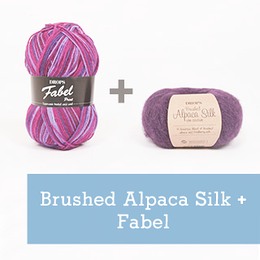 Комбинируем пряжу DROPS Fabel и DROPS Brushed Alpaca Silk
