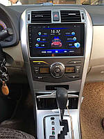 Штатная Магнитола Toyota Corola 2007-2013  на Android 8.1  Тойота Корола с Экраном 10 дюймов память 1/16 Гб