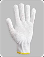 Перчатки трикотажные без ПВХ т. отбеленные
