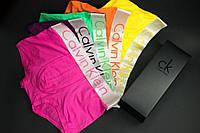 Мужское нижнее бельё Calvin Klein комплект из 5 шт трусы боксеры ( цвета на выбор)  Подарочный набор