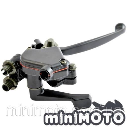 Курок (рычаг) газа с тормозной ручкой для мини квадроцикла ATV 50-110
