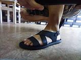 Стильные чёрные кожаные сандалии Rondo, фото 6