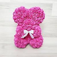 25см Мишка из 3D роз Teddy De Luxe Rose Bear, в коробке 2019 розовый