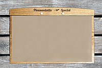"""Доска-меню А4. Деревянное меню для ресторана """"Плезентвиль"""" (A00901)"""