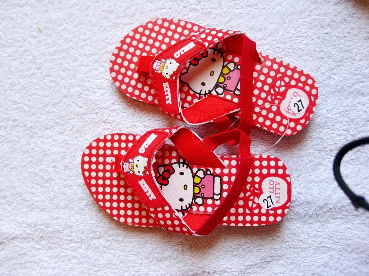 НЕДОРОГО Летние босоножки шлепки Kitty для девочки р. 24, 25