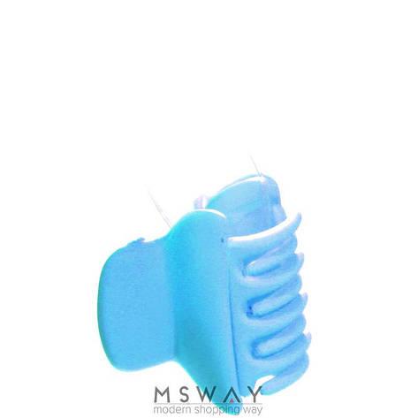 KATTi Краб для волос 28 805 малый цветной карбон Ш2,5 1шт сине голубой, фото 2